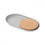 Овальная тарелка с бамбуковой доской Leo BergHOFF