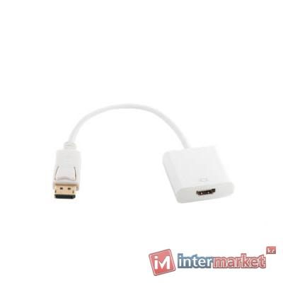 Кабель-переходник PowerPlant DisplayPort - HDMI, 0.15m