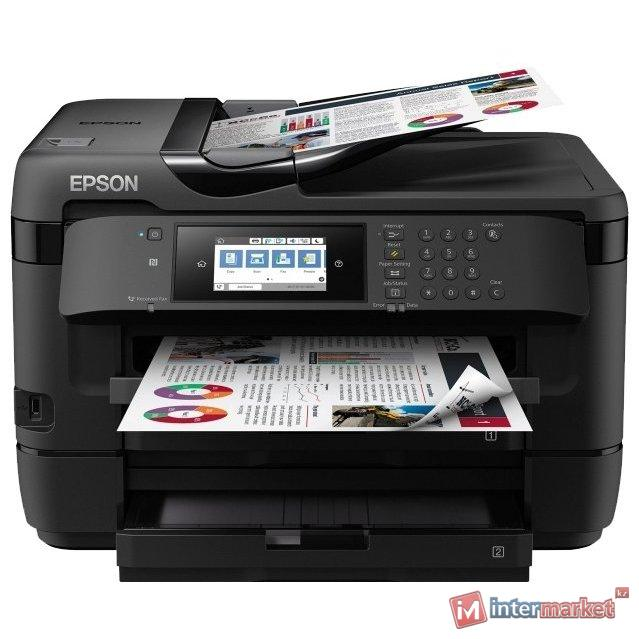 МФУ Epson WorkForce WF-7720DTWF C11CG37412, A3+, принтер 4800x2400dpi, копир 1200x2400dpi, сканер 1200x2400dpi, USB
