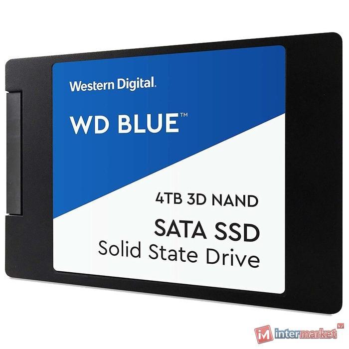 """Твердотельный накопитель 4000GB SSD WD BLUE 3D NAND 2.5"""" SATA3 R560Mb/s, W530MB/s WDS400T2B0A"""